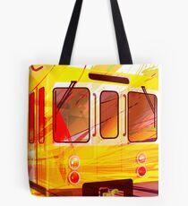 Yellow Subway Background Tote Bag