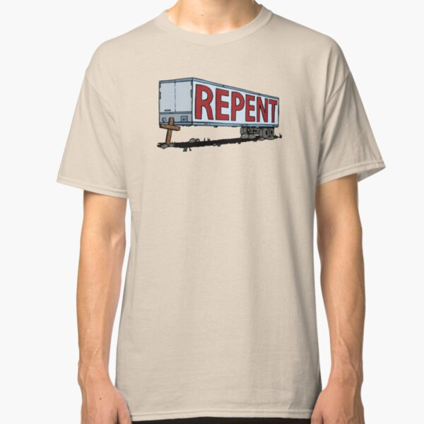 Repent Cross Trailer Classic T-Shirt