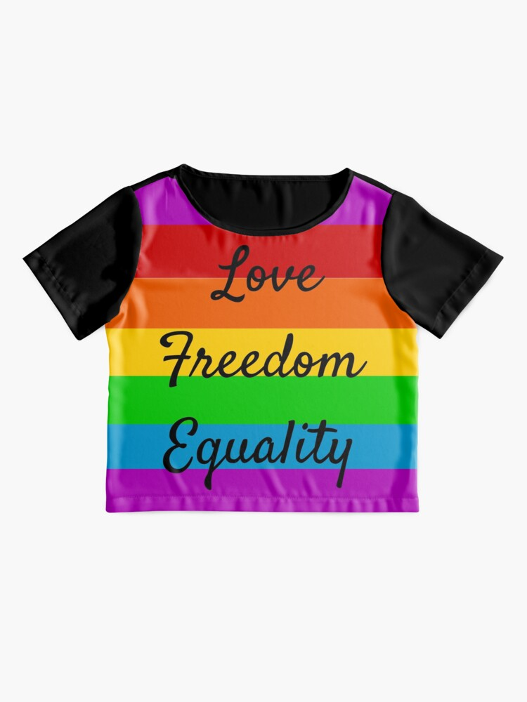Alternate view of Love Freedom Equality  Chiffon Top