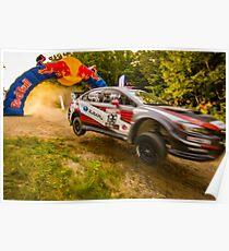 Subaru 199 Rally Car Jump Poster