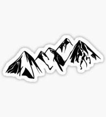 Mountain Outline Sticker