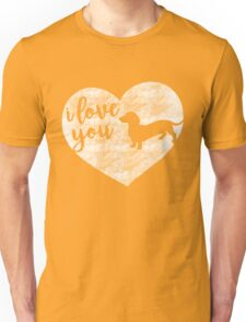 I Love You (Dachshund Silhouette) Unisex T-Shirt