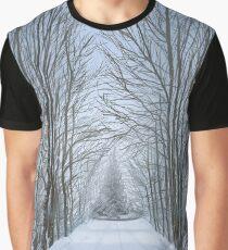 Winter Tree Path Graphic T-Shirt