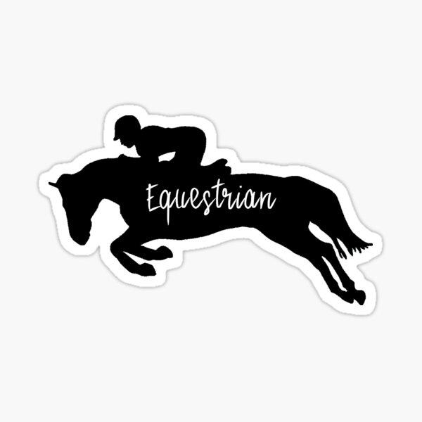 Equestrian Silhouette  Sticker