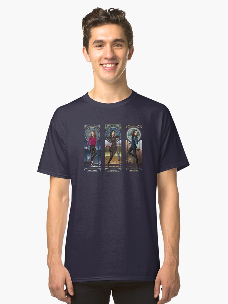 Art Nouveau - SHIELD Ladies Combined Classic T-Shirt Front