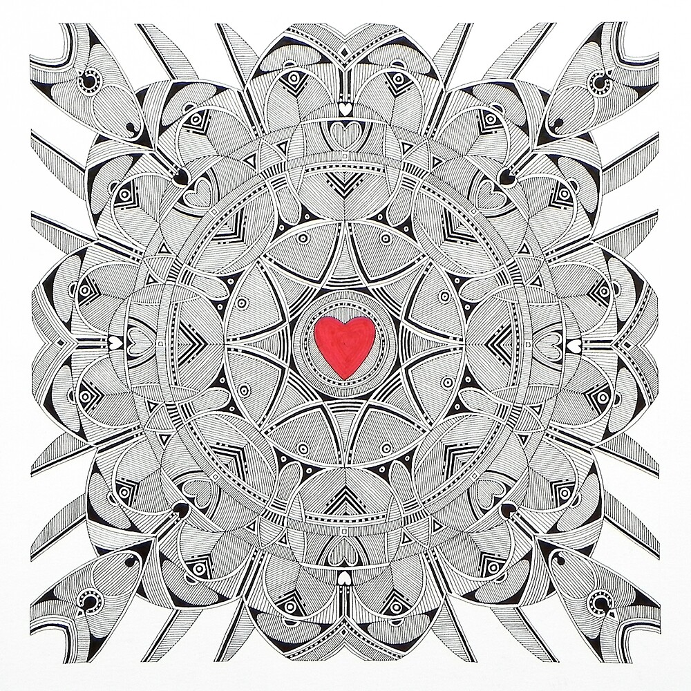 Sacred heart  (original sold) by federico cortese