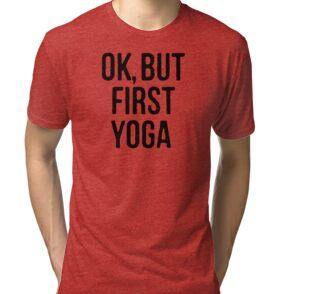 Camisetas de tejido mixto «Camisa de yoga -