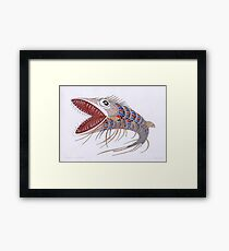 Shark fish  (original sold) Framed Print