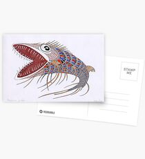 Shark fish  (original sold) Postcards