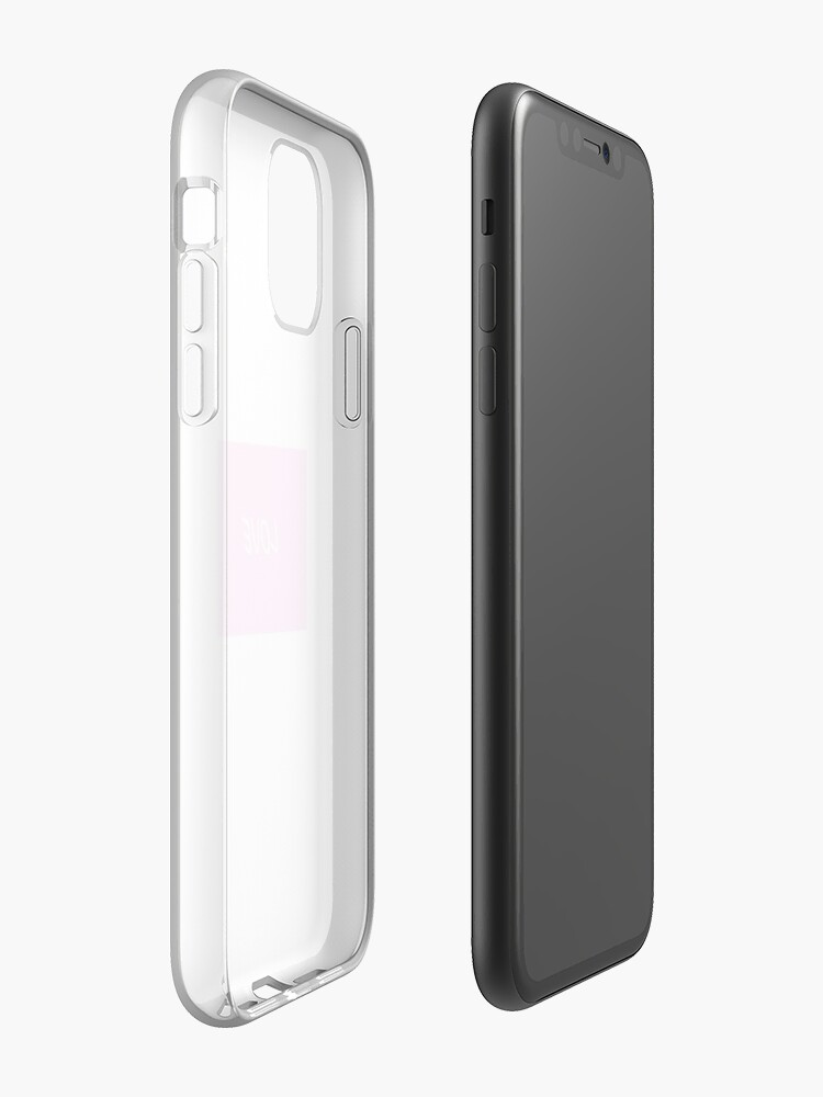 Coque iPhone «Amour - Blanc sur Rose clair», par CRNSM71