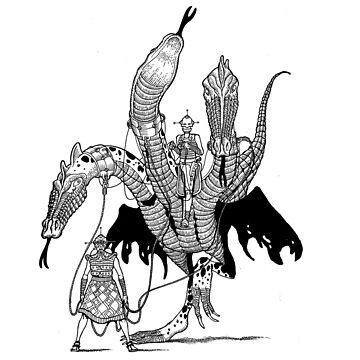 Triple Headed Beast by BalbinaStudio