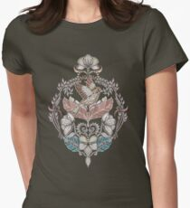 Woodland Birds - hand drawn vintage illustration pattern in neutral colors T-Shirt