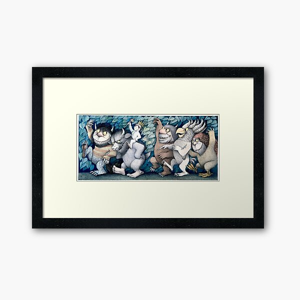 Where the wild things are Rumpus Framed Art Print