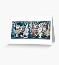 Where the wild things are Rumpus Greeting Card