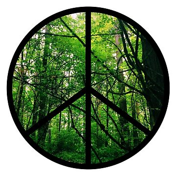 Forest Tree Peace Sign by tbootz