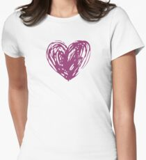 Heart Womens Fitted T-Shirt