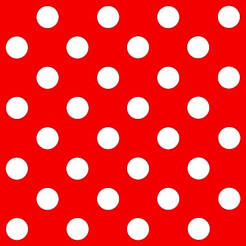 Red & WHite Polka Dot by ianmca