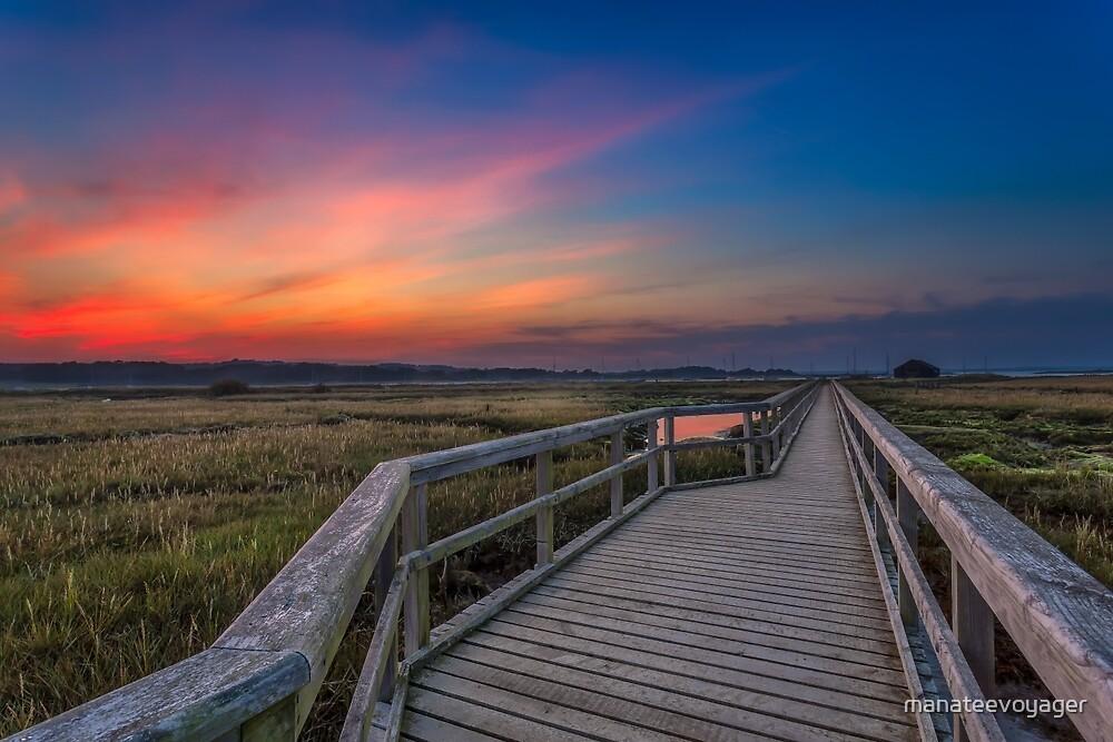 Boardwalk Sunset by manateevoyager