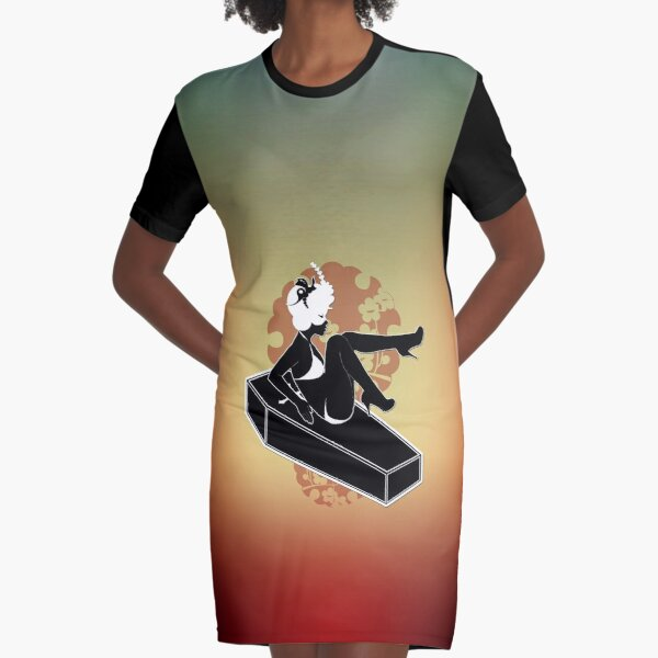 The Butterfly Circus Lenormand - Coffin Graphic T-Shirt Dress
