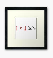 Lost Hieroglyphs (LOST TV Show) Framed Print