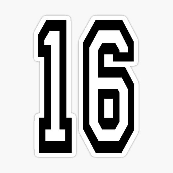 Number 16. Team. Sports. Sixteen. Sixteenth. 16Th. Sweet Sixteen. Competition. Sticker Sticker