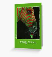 Will Bullas / holidays stripes... Greeting Card