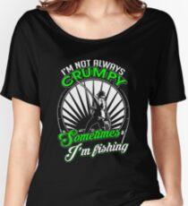 Funny Grumpy Fishing Shirt Women's Relaxed Fit T-Shirt