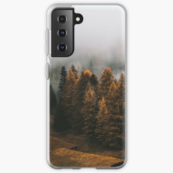 Pathway Along the Pine Trees - Landscape of Wild Jungle Samsung Galaxy Soft Case