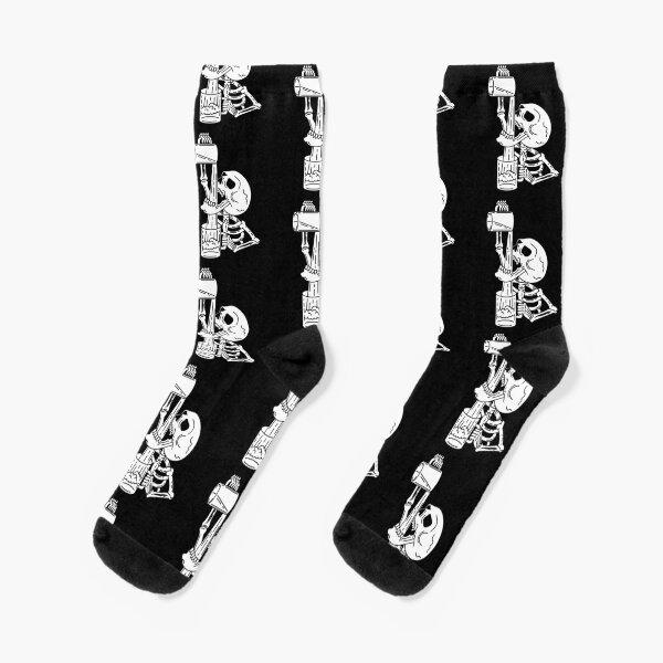 Drunk skeleton Socks