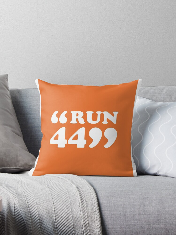 "Frank Ocean Forrest Gump ""Run 44"""" Throw Pillows by Noah Ribaudo"
