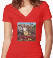 Peppers (vinyl square version) Women's Fitted V-Neck T-Shirt
