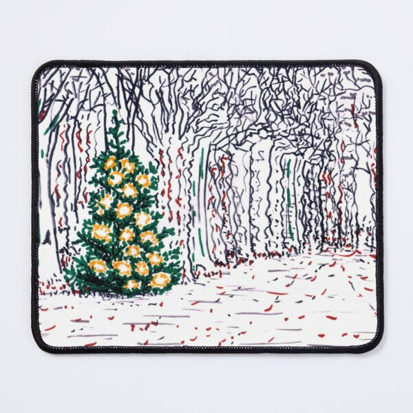 Tree with Christmas Decoration Mouse Pad