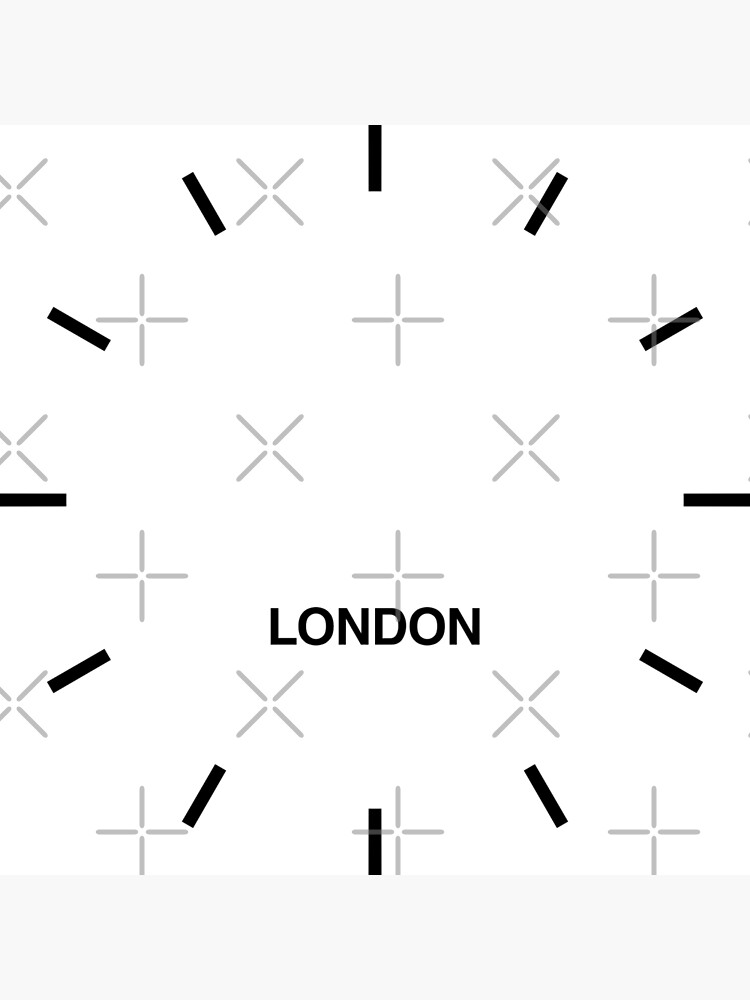 London Time Zone Newsroom Wall Clock by bluehugo