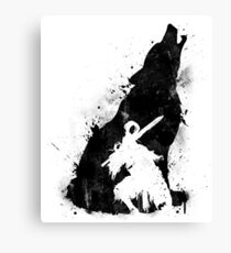 Abyss Warrior VERSION BLACK Canvas Print