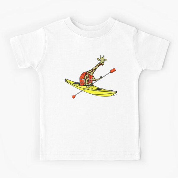 Giraffe Sea Kayaking Kids T-Shirt
