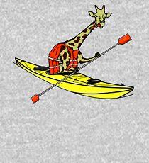 Giraffe Sea Kayaking Kids Pullover Hoodie