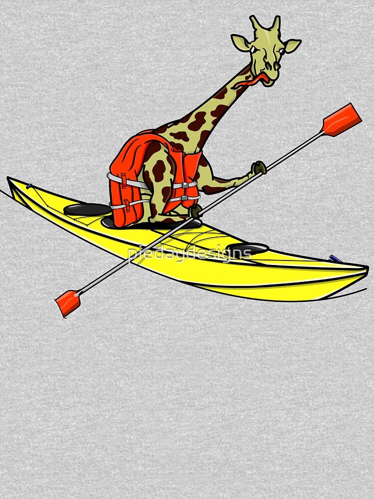 Giraffe Sea Kayaking by piedaydesigns