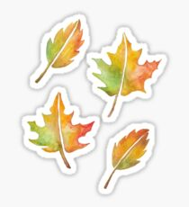 Fall Leaves Set Sticker