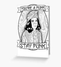 Stay Punk Grußkarte