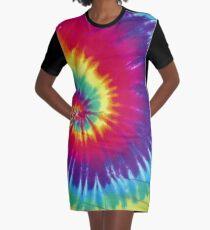 Tie Dye Graphic T-Shirt Dress