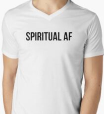 "Yoga Shirt - ""Spiritual AF"" - Yoga Clothes Women & Men - Yoga Tops Men's V-Neck T-Shirt"