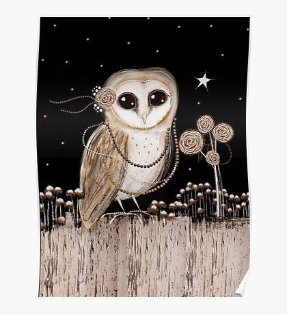 Little Barn Owl Poster
