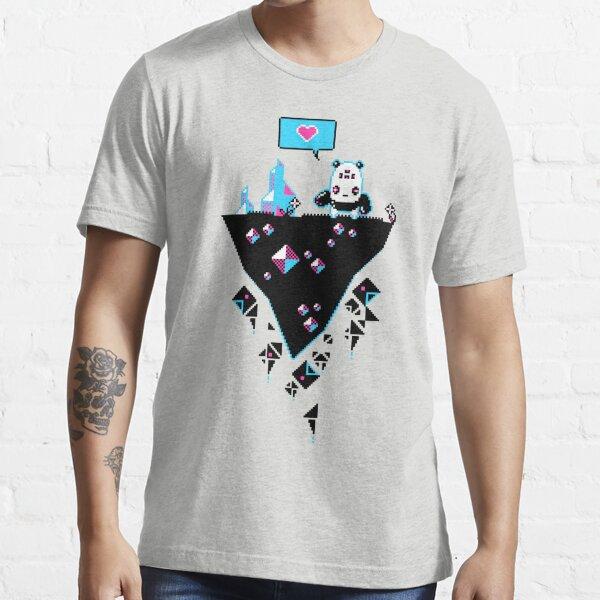PandaC on Floating Pixel Island Essential T-Shirt