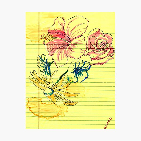 Floral Doodling Photographic Print