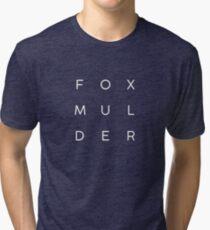 Fox Mulder Tri-blend T-Shirt