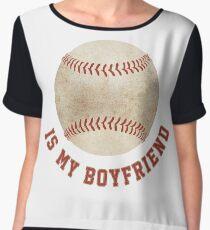 Baseball is My Boyfriend Chiffon Top