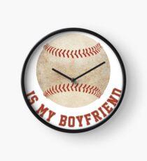 Baseball is My Boyfriend Clock