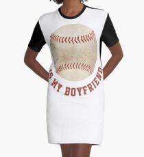 Baseball is My Boyfriend Graphic T-Shirt Dress