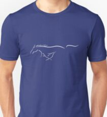 Ford Mustang Emblem - stencil, white Unisex T-Shirt