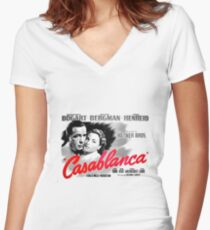 Casablanca Women's Fitted V-Neck T-Shirt